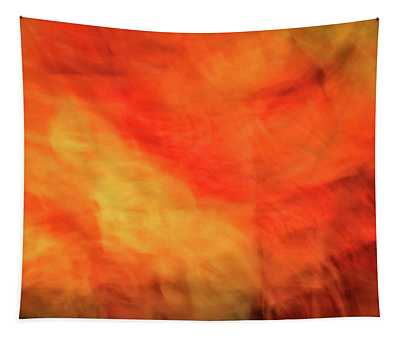 Bright Artistic Fire Like Background Of Red, Orange And Yellow Textures Tapestry