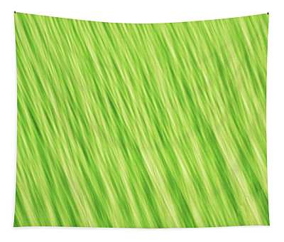 Bright Chartreuse Green Blurred Diagonal Lines Abstract Tapestry