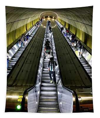 Bright Lights, Tall Escalators Tapestry