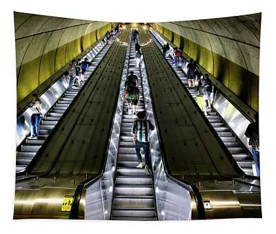 Bright Lights, Tall Escalators Tapestry