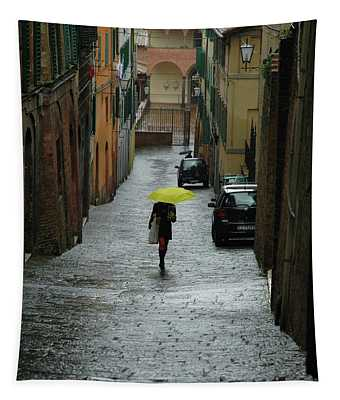 Bright Spot In The Rain Tapestry