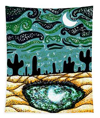 Bring The Moon On Earth Tapestry