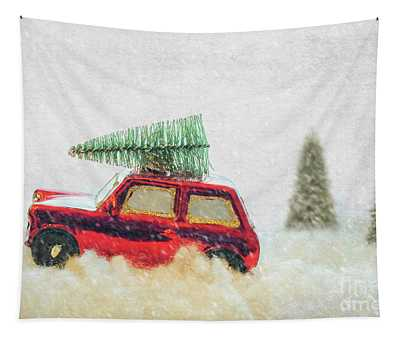 Bringing Christmas Home Tapestry