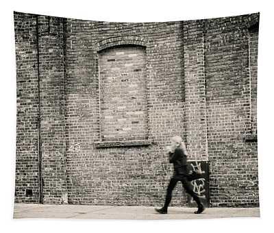 Brisk Walk Thru Brooklyn Tapestry