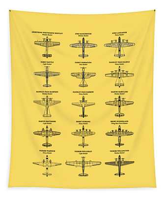 British Bomber Aircraft Of Ww2 Tapestry