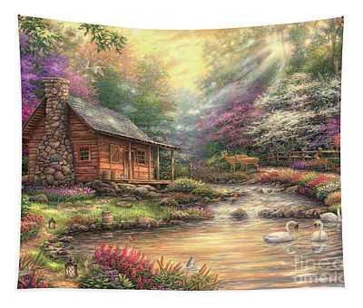 Brookside Retreat Tapestry