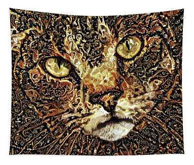 Bubba The Brown Tabby Cat Tapestry
