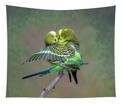 Budgie Love Tapestry