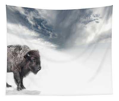 Buffalo Winter Tapestry