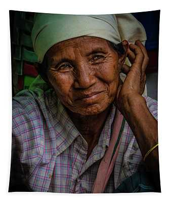 Burmese Lady Tapestry