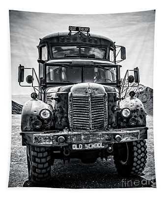 Burning Man Type School Bus Tapestry