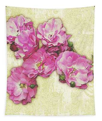 Bush Roses Painted On Sandstone Tapestry