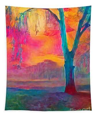 Bush Sunset  Tapestry