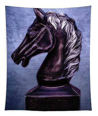 Bust Of The Black Knight Tapestry