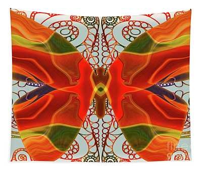 Butterfly Art - Circles And Spirals - Omaste Witkowski Tapestry