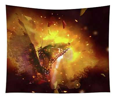 Butterfly Color Explosion. Tapestry