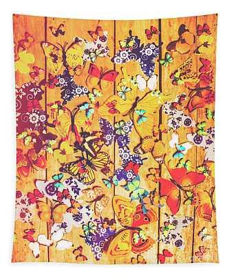 Butterfly Papercraft  Tapestry