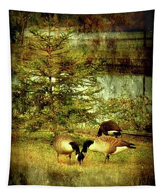 By The Little Tree - Lake Carasaljo Tapestry