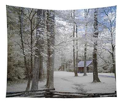 Cabin In The Smoky's II Tapestry