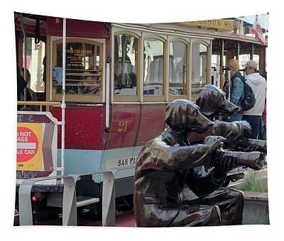Cable Car And Paparazzi Dogs 2 Tapestry