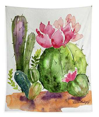 Cactus And Succulents Tapestry