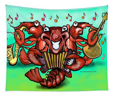 Cajun Crawfish Band Tapestry