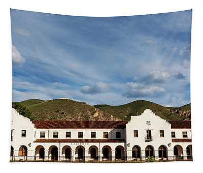 Caliente Railroad Depot Tapestry