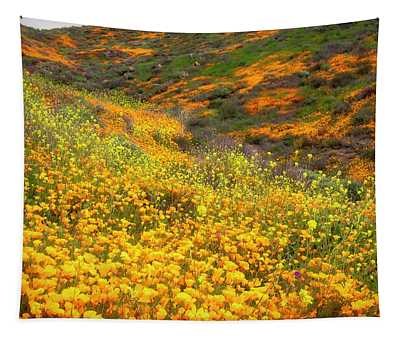 California Poppies Superbloom Tapestry
