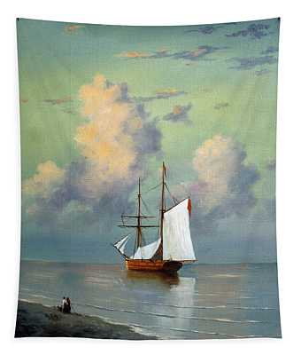 Calm At Sea  Tapestry