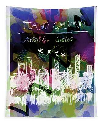 Calvino Invisible Cities Poster  Tapestry