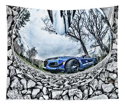 Camaro Reflection Tapestry