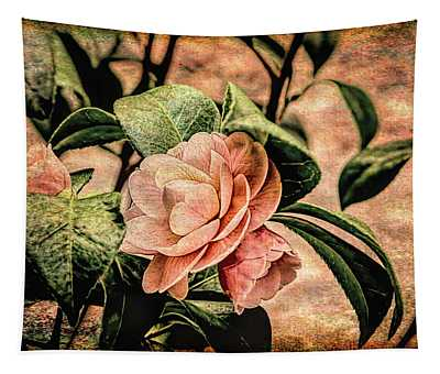 Camellia Grunge Tapestry