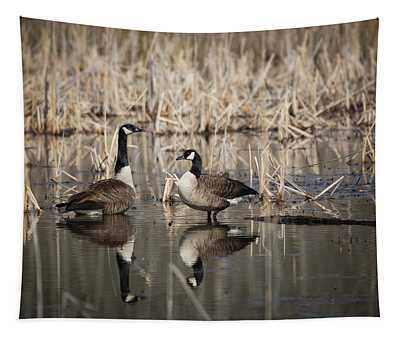 Canada Geese On The Marsh Tapestry