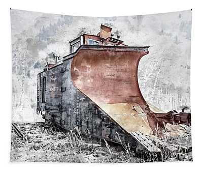 Canadian Pacific Snow Plow Tapestry