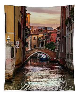Tapestry featuring the photograph Canals Of Venice by Jaroslaw Blaminsky