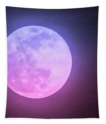 Cancer Super Wolf Blood Moon Near Eclipse Tapestry