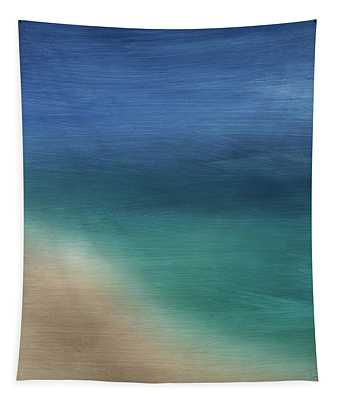 Cancun Coast- Art By Linda Woods Tapestry