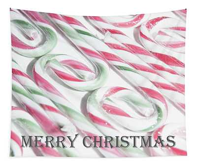 Candy Cane Swirls - Merry Christmas Tapestry