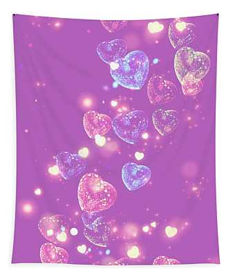 Candy Hearts Tapestry