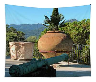 Cannon Hearst Castle Patio Tapestry