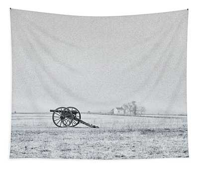 Cannon Out In The Field Tapestry