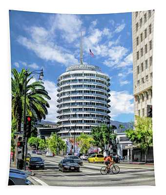 Capitol Records In Los Angeles Tapestry