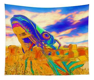 Carhenge Salmon Tapestry