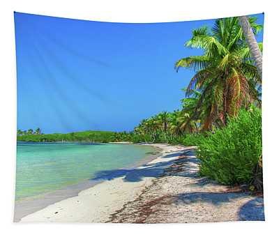 Caribbean Palm Beach Tapestry