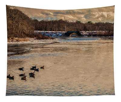 Carmens River In Winter Tapestry