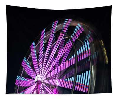 Carnival Ride At Night Tapestry