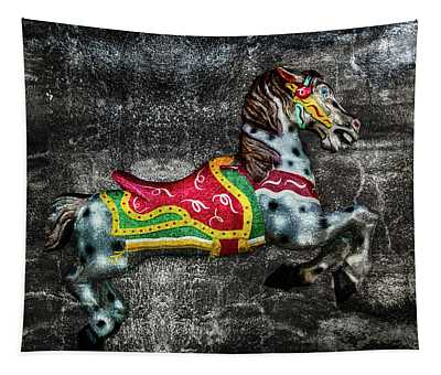 Carousel On Stone Tapestry