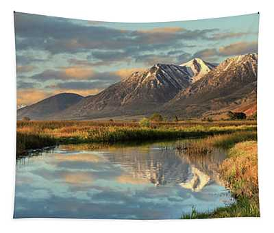 Carson Valley Sunrise Panorama Tapestry