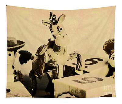 Cartoon Character Cowboys And Cowgirls Tapestry