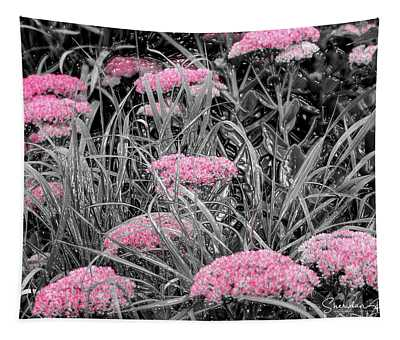 Carved Pink Butterfly Bush Tapestry